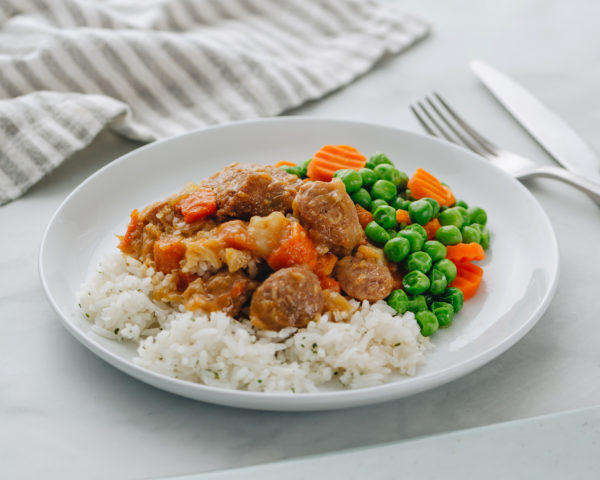 Curried Sausages (side)